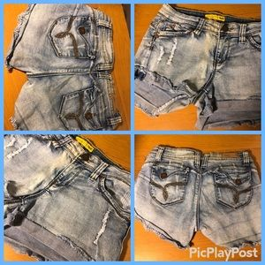 Ymi torn bleached shorts juniors